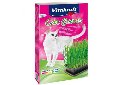 Смесь Vitacraft для проращивания свежей травы для кошек, 120г лоток
