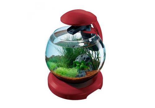 Аквариум Tetra Cascade Globe, 6.8л, бордовый