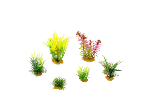 Набор пластиковых растений Prime PR-YS-70403, 6шт