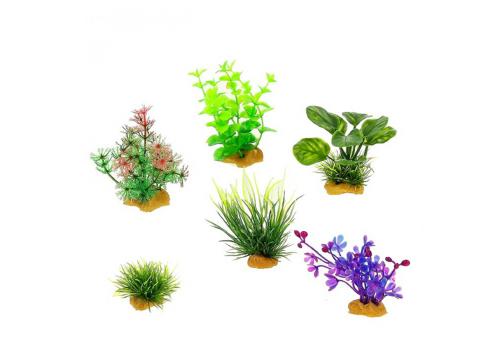 Набор пластиковых растений Prime PR-YS-70404, 6шт