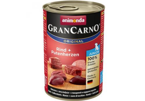 Консервы Animonda Gran Carno Original Junior для щенков, с говядиой и сердцем индейки 400г