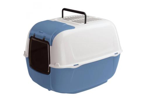 Туалет Ferplast PRIMA для кошек, синий,  угольный закрытый