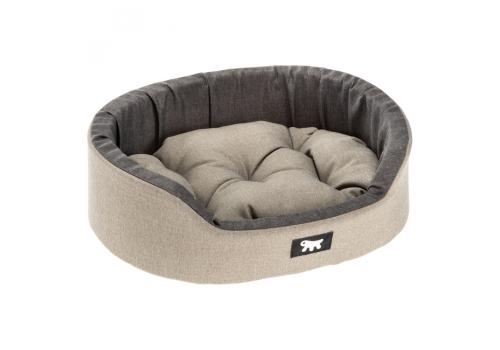 Софа мягкая Ferplast Dendy C95 для собак и кошек, серый с черным