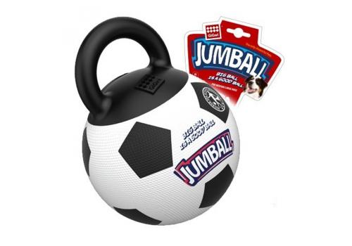 """Игрушка для собак """"JUMBALL"""" Мяч футбольный с ручкой белый, 26см"""