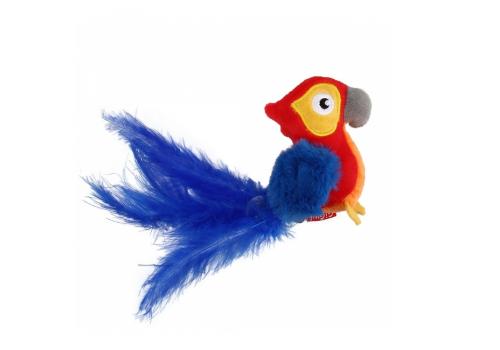 Игрушка для кошек GiGwi Попугай со звуковым чипом 12см