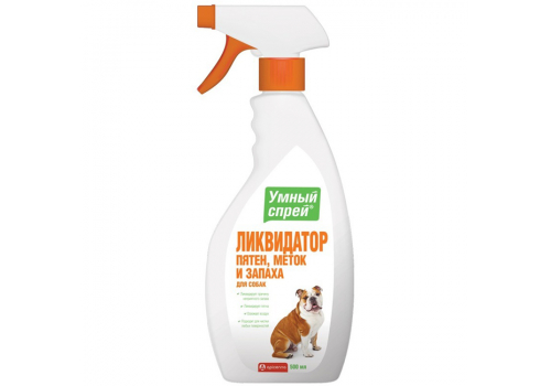Спрей Умный Apicenna Ликвидация пятен, меток и запаха для собак, 500мл