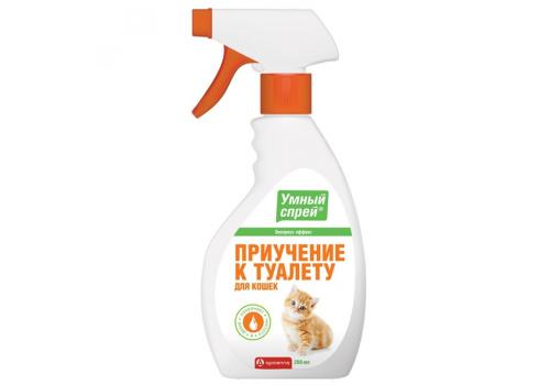 Спрей Умный Apicenna приучение к туалету для кошек, 200мл