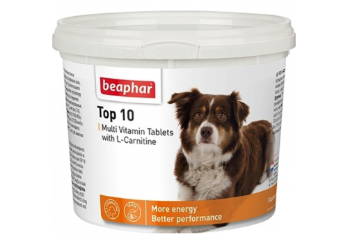 Beaphar Top 10 Кормовая добавка с L-карнитином для собак 180таб.