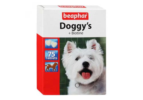 Beaphar Doggy's + Biotine Витамины с биотином для собак 75таб.