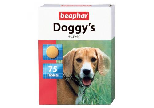Beaphar Doggy's Liver витамины с печенью для собак 75таб.