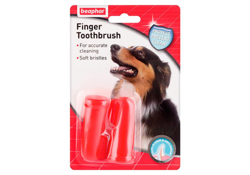 Beaphar Finger Toothbrush Зубная щетка двойная на палец, для собак