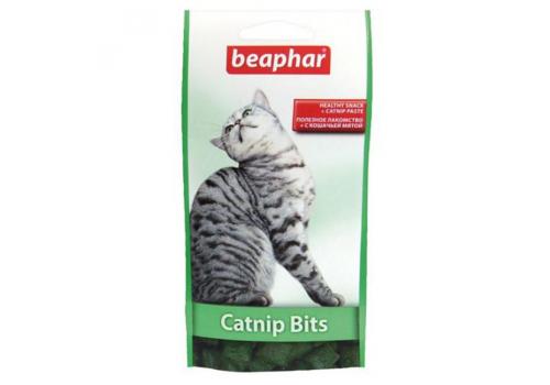 Beaphar Catnip bits Витамины с кошачьей мятой для кошек в виде шариков 35г 75шт.