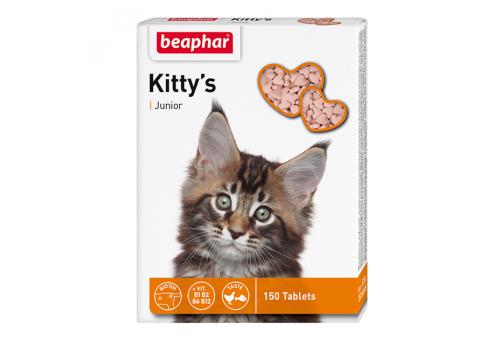Beaphar Kitty's Junior лакомство с витаминами для котят 150таб.