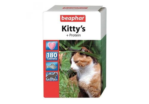 Beaphar Kitty's Protein витамины с протеином и вкусом рыбы для кошек 180таб.