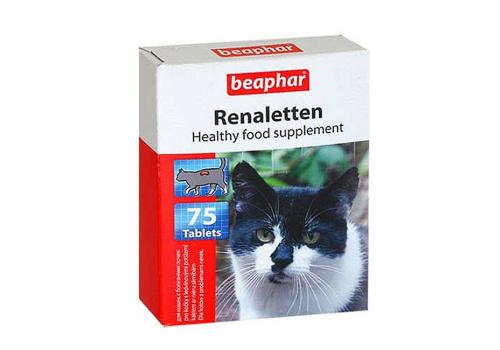 Beaphar Renaletten Кормовая добавка для кошек с почечными проблемами 75таб.