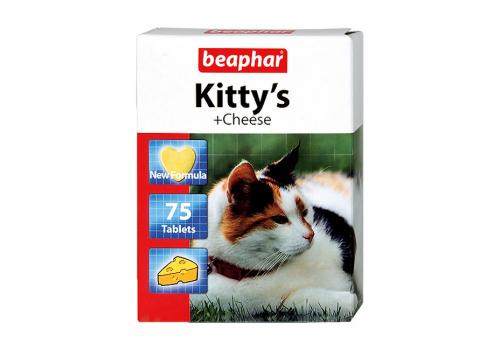Beaphar Kitty's + Cheese Кормовая добавка с сыром для кошек 75таб.