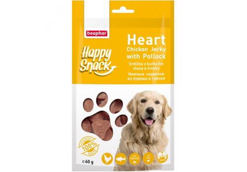 Beaphar Happy Snack Нежные сердечки из курицы и трески для собак 60г