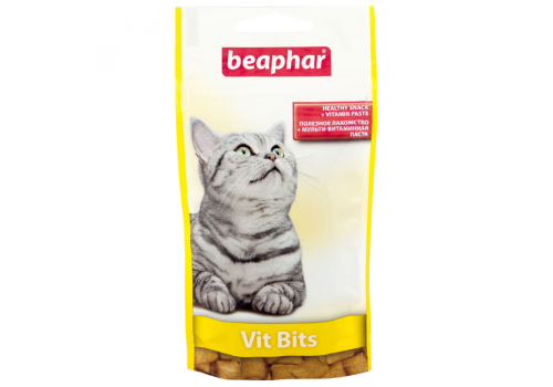 Beaphar Vit Bits Подушечки с мультивитаминной пастой для кошек 35г