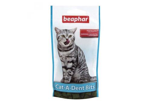 Beaphar Cat-A-Dent Bits Подушечки для чистки зубов кошек 35г