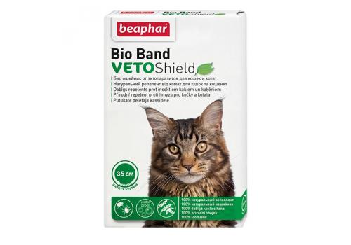 Ошейник Био Beaphar VETO Shield Bio от эктопаразитов для кошек и котят 35см