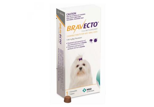 Бравекто жевательная таблетка для собак массой 2 — 4,5кг 112.5мг