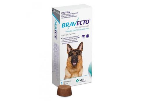 Бравекто жевательная таблетка для собак массой >20 — 40кг 1000мг