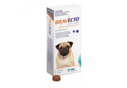 Бравекто жевательная таблетка для собак массой >4,5 — 10кг 250мг