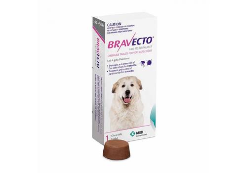 Бравекто жевательная таблетка для собак массой >40 — 56кг 1400мг