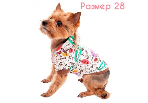 Футболка с капюшоном для собак OSSO Fashion Йога-дог, р28