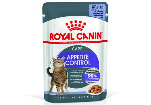 Корм влажный Royal Canin Аппетайт Контрол  для кошек 85г желе