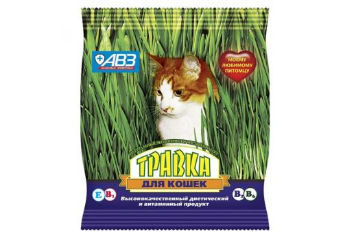 Травка АВЗ для кошек, набор семян, пакетик
