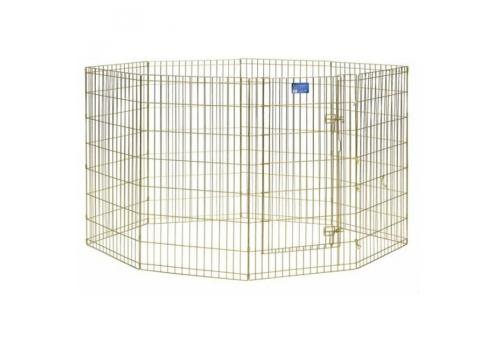 Вольер для собак Midwest Gold Zinc, 8 панелей, позолоченный цинк, 147х61х61 см