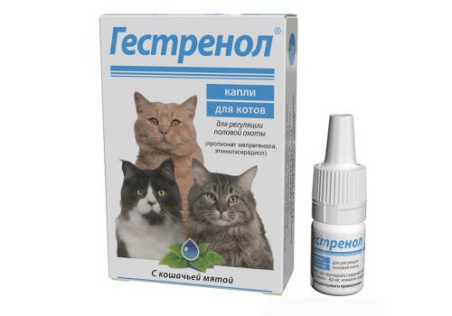 Гестренол капли для котов с кошачьей мятой, 1.5мл