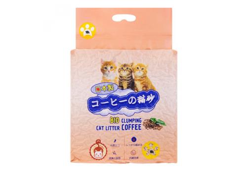 Наполнитель Hakase Arekkusu комкующийся, кофе 10кг