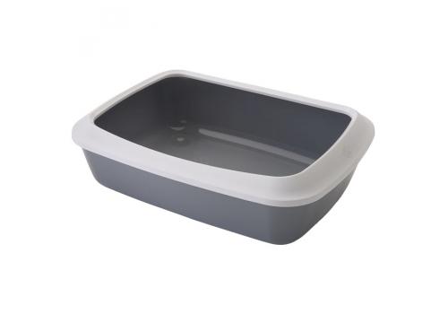 Туалет Savic Litter Tray ISIS для кошек, с бортом, серый, 50см