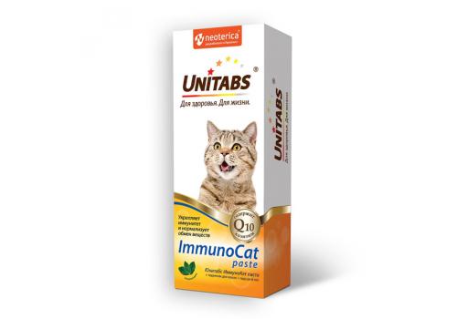 Пищевая добавка Unitabs ImmunoCat Паста Q для кошек, 120мл.