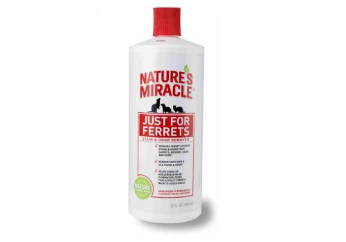 Уничтожитель пятен и запаха 8in1 Nature`s Miracle JFF S&O Remover от хорьков, 946мл