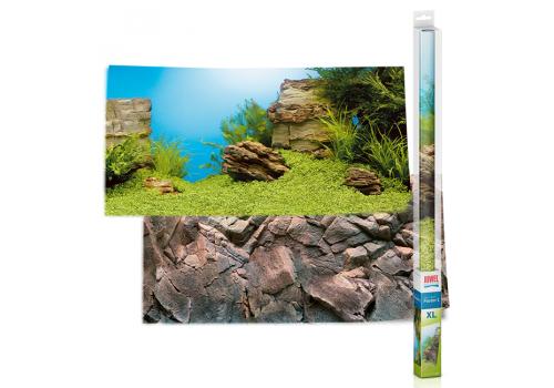 Фон двухсторонний Juwel Poster 1 Ландшафт и Камни XL, 150х60см