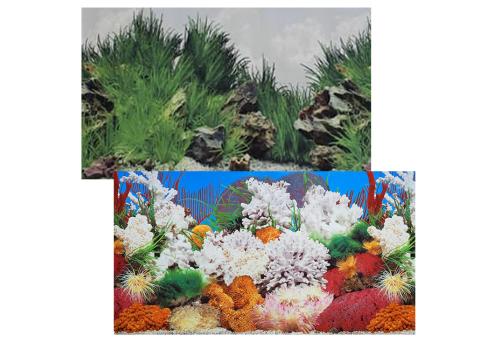 Фон двухсторонний Prime Морской пейзаж и Подводный рельеф 50х100см (9029/9030)