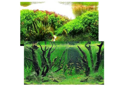Фон двухсторонний Prime Коряги с растениями и Растительные холмы, 50х100см (9084/9085)