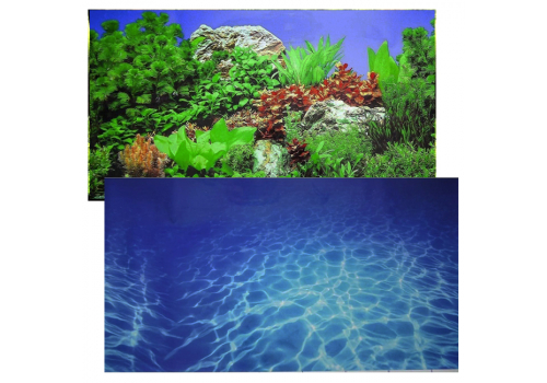 Фон двухсторонний клеевой Prime Синее море и Растительный пейзаж, 50х100см (9063/9071