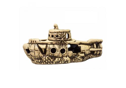 Декорация керамическая Субмарина 25х8х11см