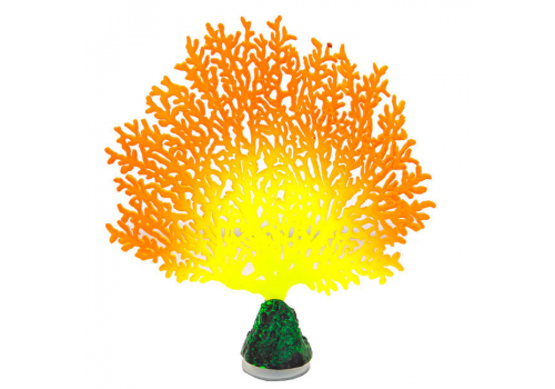 Декорация Флуорисцентная Gloxy Коралл веерный оранжевый
