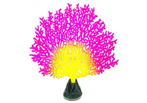 Декорация Флуорисцентная Gloxy Коралл веерный розовый