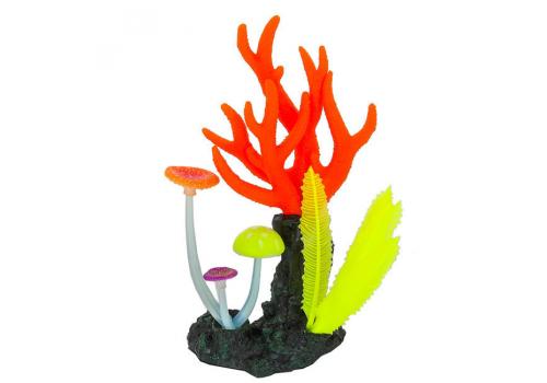 Декорация Флуорисцентная Gloxy Морские кораллы розовые