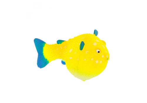 Декорация Флуорисцентная Gloxy Рыба шар на леске желтая