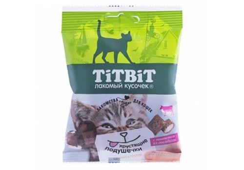 Лакомство TitBit Хрустящие подушечки д/кошек с паштетом из говядины 30г
