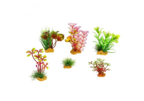 Набор пластиковых растений Prime PR-YS-70401, 6шт