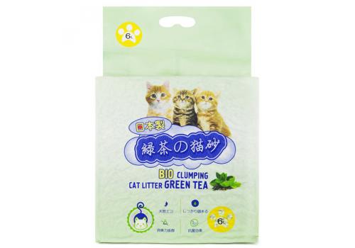 Наполнитель Hakase Arekkusu комкующийся биоразлагаемый, с зеленым чаем 6кг