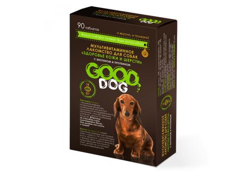 Мультивитаминное лакомство Good Cat Здоровье кожи и шерсти для собак, 90таб